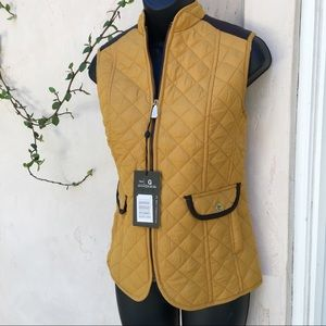 Jackets & Blazers - MUSTARD Yellow Quilted Vest Jacket Size M